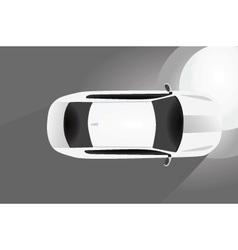 Car bird eye view vector