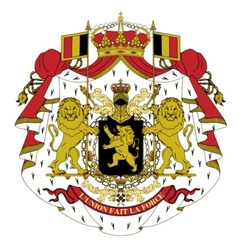 coat of arms of Belgium vector image vector image