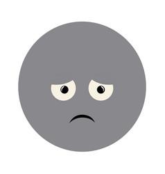 Colorful emoticon sad face expression vector