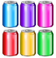 Colourful soda cans vector