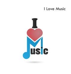 Creative music note abstract logo design vector image