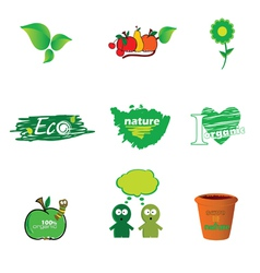 eco icon green vector image vector image