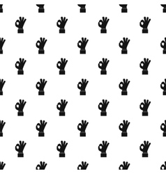 Gesture okay pattern simple style vector