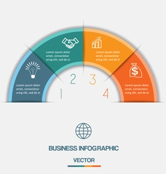 infographic on four positions vector image vector image