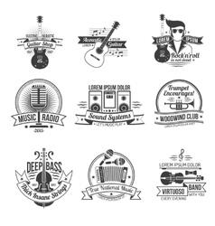 Music label set vector
