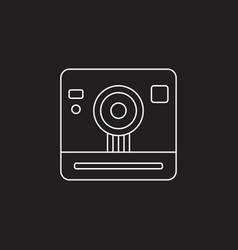 Retro camera icon vintage photography vector