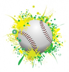 splattered ball vector image