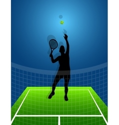 Sport background tennis man vector