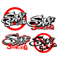 Stop smoking motivation inscription health vector
