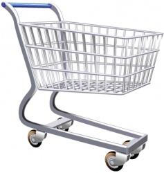 Stylized shopping cart vector