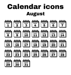 The calendar icon August symbol Flat vector image