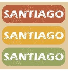 Vintage santiago stamp set vector