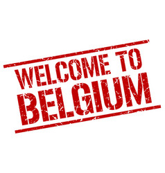Welcome to belgium stamp vector