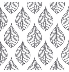 Abstract mesh leaves seamless pattern vector