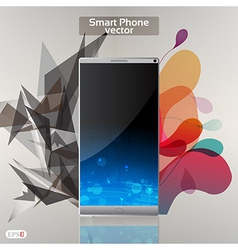Smart phone background vector