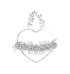 Sacred heart icon vector