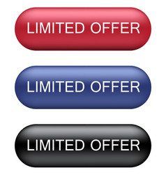 Limited offer buttons vector