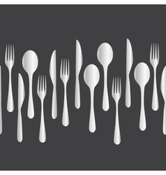 Kitchen cutlery - fork spoon knife eps10 vector