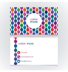 Beautiful business card with a bright seamless vector