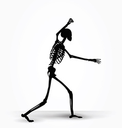 Skeleton silhouette in intimidating pose vector