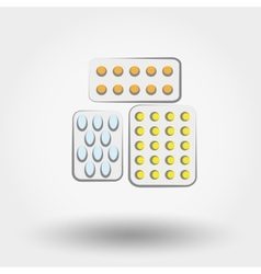 Tablets and pills set vector