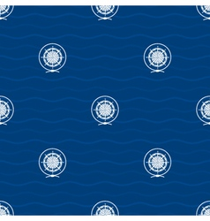 Seamless pattern with compass rose vector