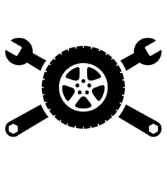 Tire Service Icon vector image