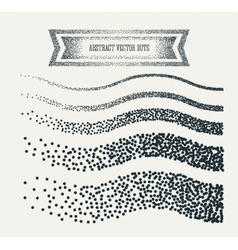 Halftone dots abstract business grey vector