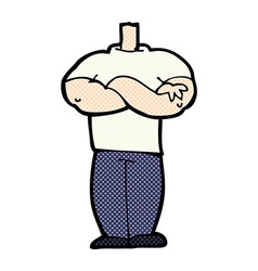 Comic cartoon body with folded arms mix and match vector