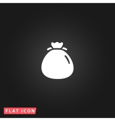 Bag flour icon vector