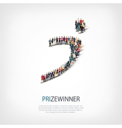 prizewinner people 3d vector image