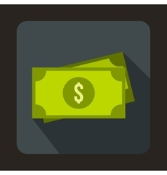 American dollars icon flat style vector