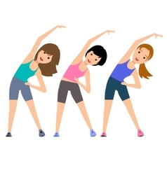 Aerobics Train create a beautiful figure vector image
