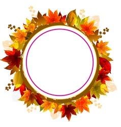 Autumn leaves frame vector