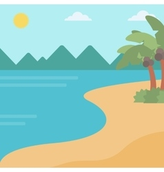 Background of tropical beach and sea vector image vector image