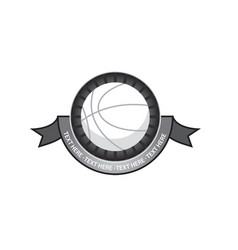 Basketballl emblem retro vector