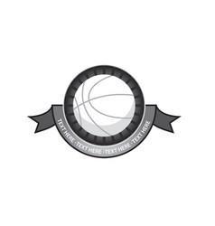 basketballl emblem retro vector image vector image