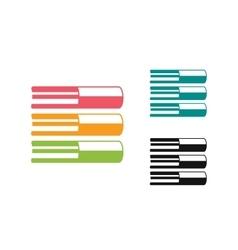 Books logo icon vector image vector image