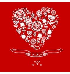 Cartoon hearts background vector image vector image
