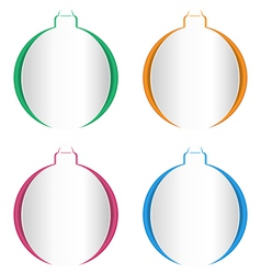 Christmas balls cutout on different backgrounds on vector