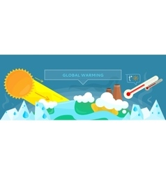 Ecology banner concept global warming vector