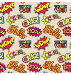 Embroidery words seamless pattern vector image vector image