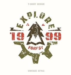 Explore forest badge vector