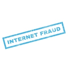 Internet fraud rubber stamp vector