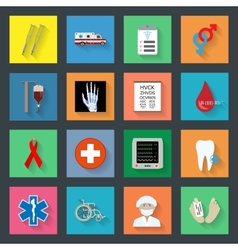 Medicine flat icons set 2 vector image