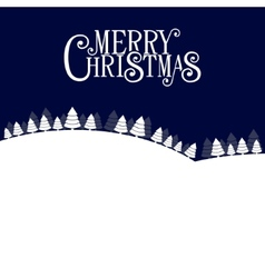 Merry christmas landscape forest background vector