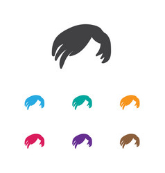 of coiffeur symbol on hair vector image