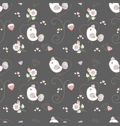 pattern cute birds vector image