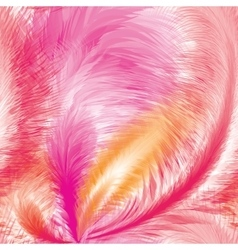 Pink feathers seamless pattern vector