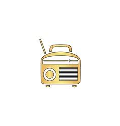 Radio computer symbol vector